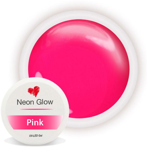 Neon Glow Farbgel Pink nailart