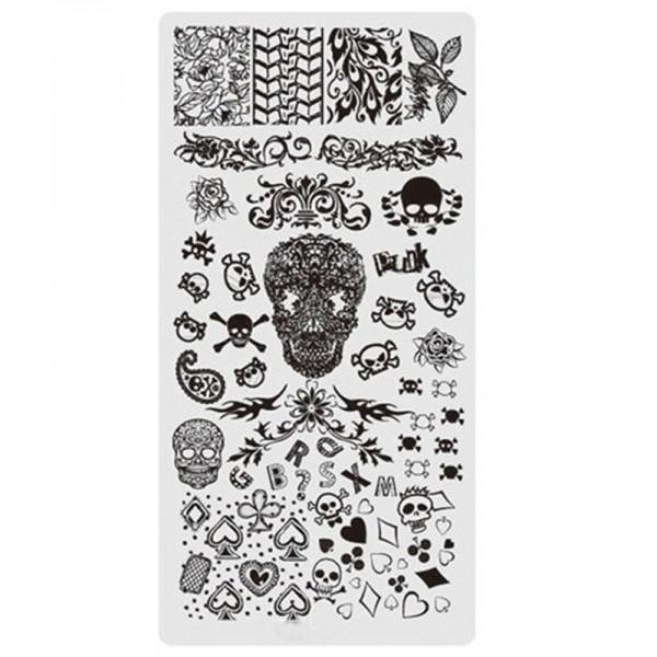 Stamping Schablone Skull 12 Totenkopf