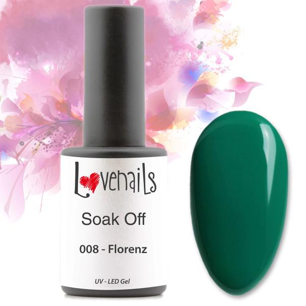 Soak Off Farbgel Grün Florenz 10ml