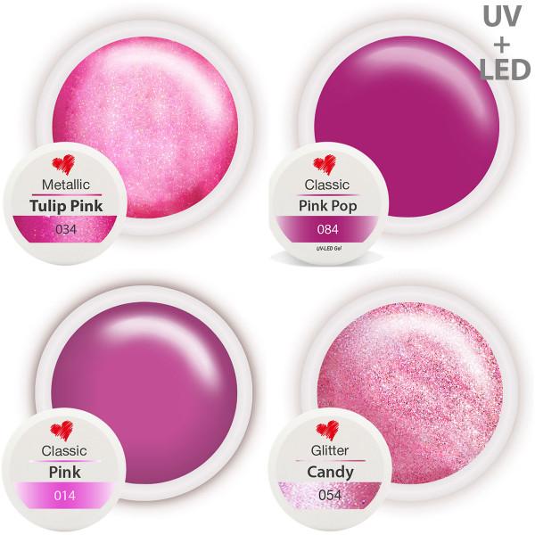 Farbgel Set Pink Queen Nailart nagelstudio
