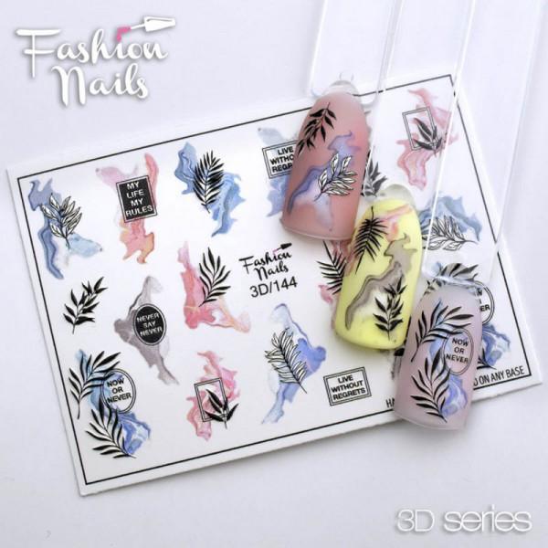 3D Nail Slider 144 Blumen
