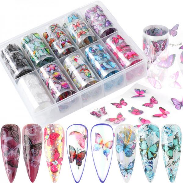 Schmetterling Transferfolien Box für Nägel