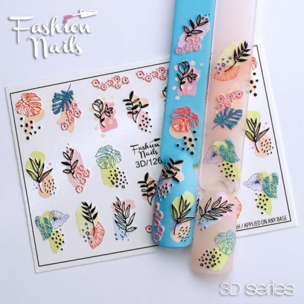 3D Nail Slider 126 Fashion Nails Blumen Frühling