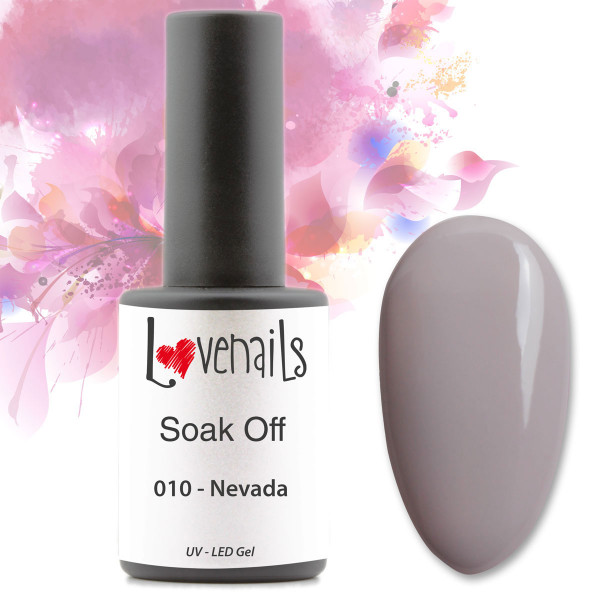 Soak Off Farbgel 010 Nevada Grau 10ml