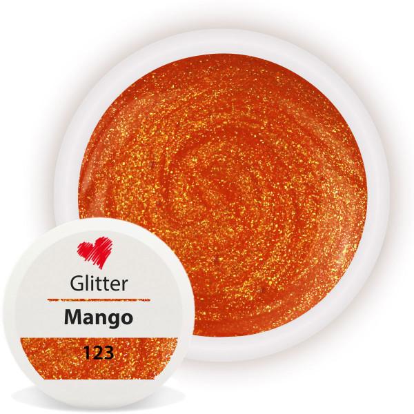 Glitter Farbgel Mango Orange nailart