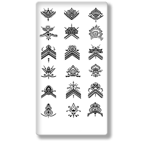 Stamping Schablone Mandala 7