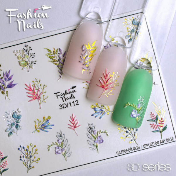 3D Nail Slider 111 Fashion Nails Blumen