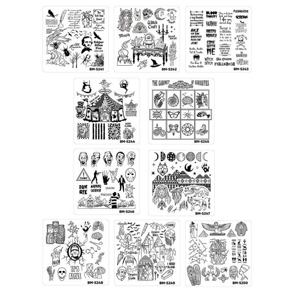 Bundle-Monster-BM-Stamping-Schablone-Halloween-Set92ARONeACHGod