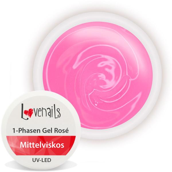 1-Phasen Gel Rosé 15ml