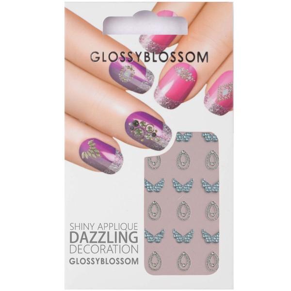 Glossy Blossom Nail Sticker 3 Schmetterling