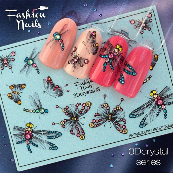 3D Crystal Nail Slider 8