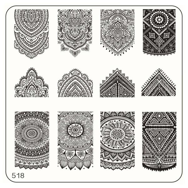 MoYou Nails Schablone Ethnic Style 518