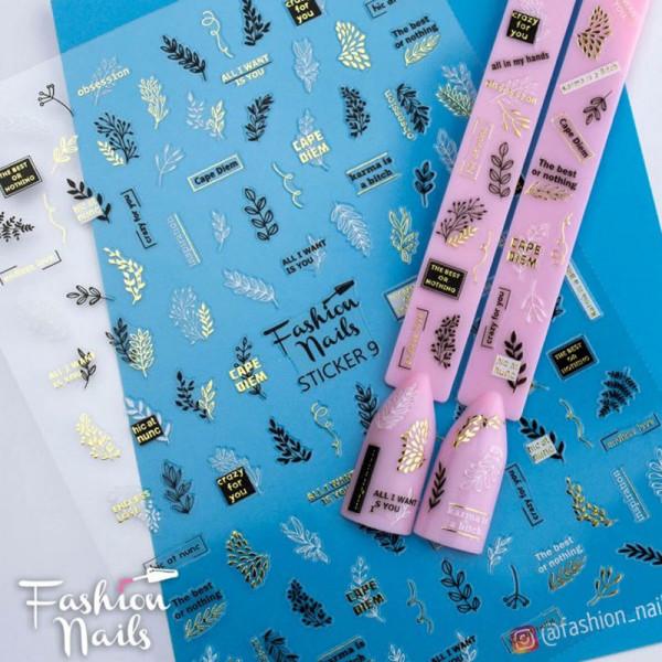 Sticker Fashion Nails geometrisch Blumen