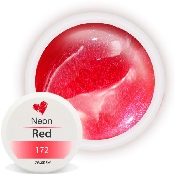 Neon Farbgel Rot Nagelstudio Nails