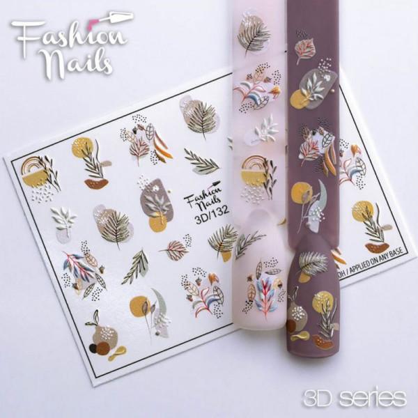 Blumen 3D Nail Slider 132 Fashion Nails